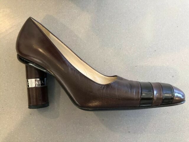 1b9a4e9eb23d0 Chanel Italian Brown & Black Made In Italy Designer Heels Shoes size 37.5  AU 7