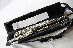 Jupiter-Carnegie-XL-DiMedici-CF1050-Solid-Silver-Flute-Inline-G-Gold-Lip-Plate