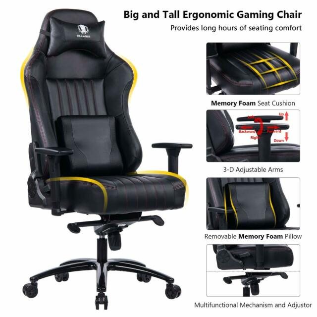 Remarkable Killabee Big And Tall 400Lb Memory Foam Gaming Chair With 3D Arms Black Unemploymentrelief Wooden Chair Designs For Living Room Unemploymentrelieforg