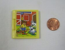 """FISHER PRICE Loving Family Dollhouse YELLOW FARM BOOK Opens! for 4-6"""" Dolls Rare"""