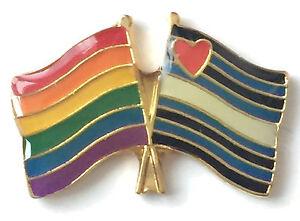 Rainbow Transgender UK Flag Friendship Pride LGBT Gay Enamel Pin Badge Brooch