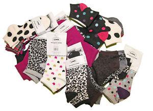 Lot-de-12-paires-chaussettes-Socquettes-imprimees-Femme-Fille-TU-36-42