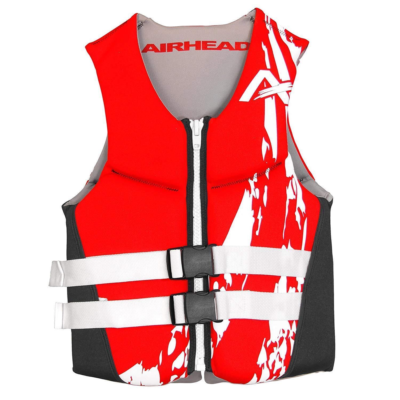 AIRHEAD Swoosh Kwik Dry Neolite Flex Vest, Red