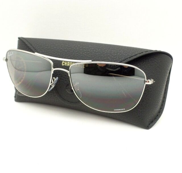 d2761e253d Ray Ban 3543 003 5J Silver Mirror Polarized 59mm Sunglasses New Authentic