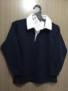 BNWT Boys//Girls Sz 14 LW Reid Royal Blue Long Sleeve Zip Neck School Jumper