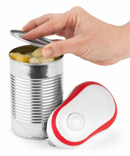 Red Bartelli Soft Edge Automatic Electric Can Opener with Assistive Auto-Stop