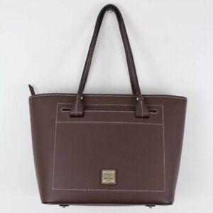 Dooney-amp-Bourke-Chestnut-Beacon-Smooth-Leather-Slip-Tote-Shoulder-Bag-NWOT-278