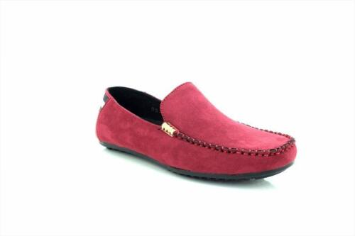 On Chaussures Marron Hommes Smart Faux Tom Suede Mocassins Slip Raw70Iq