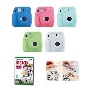 Fujifilm-Instax-Mini-9-Instant-Camera-5-Packs-Film-Sticker-Gift-Fuji-50-Photo-8