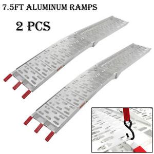Aluminum Folding Ramps >> Atv Utv Motorcycle Lawn Mower Aluminum Folding Loading Ramp Truck