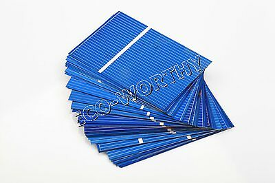 40pcs 52x76mm Poly Solar Cells for DIY 20W 18V Solar Panel Charger Gift