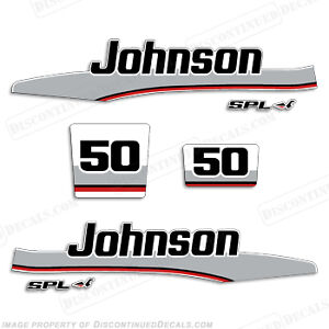 Johnson 1998 50hp spl outboard decal kit decal for Spl table 1998 99