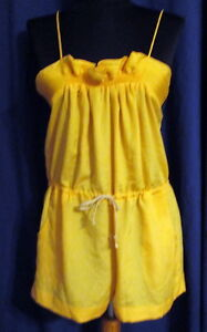 Thistlepearl-Yellow-Crepe-Romper-Shorts-Small-FREE-SHIPPING-NEW-Urban-Outfitters