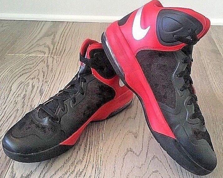 Nike Max Air Hyper Guard Red Nero Basketball Shoes Uomo 13 Rare HTF