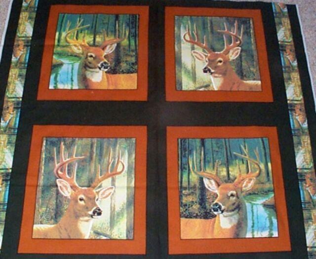 Buck Cotton pillow fabric panel