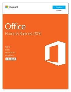 Details about Microsoft T5D-02776 Office 2016 Home/Business EN P2 32/64Bit  Medialess