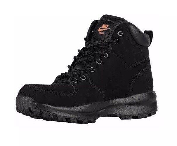 Nike manoa männer - schuhe nubuck wildleder stiefel 454350 080 schwarze größe 7