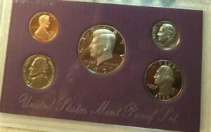 US MINT PROOF SET WITH BOX /& COA 1990 S 5 COINS!
