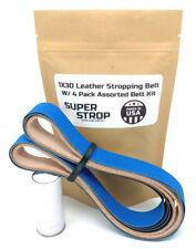 1X30 Assorted Sharpening Belt Kit w/ Super Strop Leather Honing Belt W/ Compound