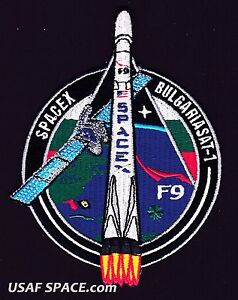 NEW BulgariaSat-1 - SPACEX ORIGINAL FALCON 9 F-9 Launch SATELLITE Mission PATCH
