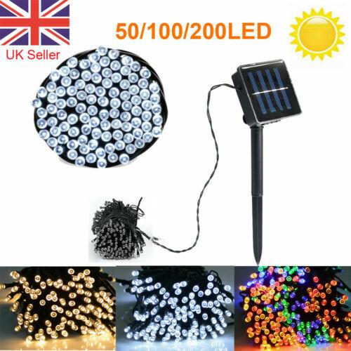 50/100/200 LED Solar Fairy Lights String Outdoor Garden Lights From £9.52 @ eBay