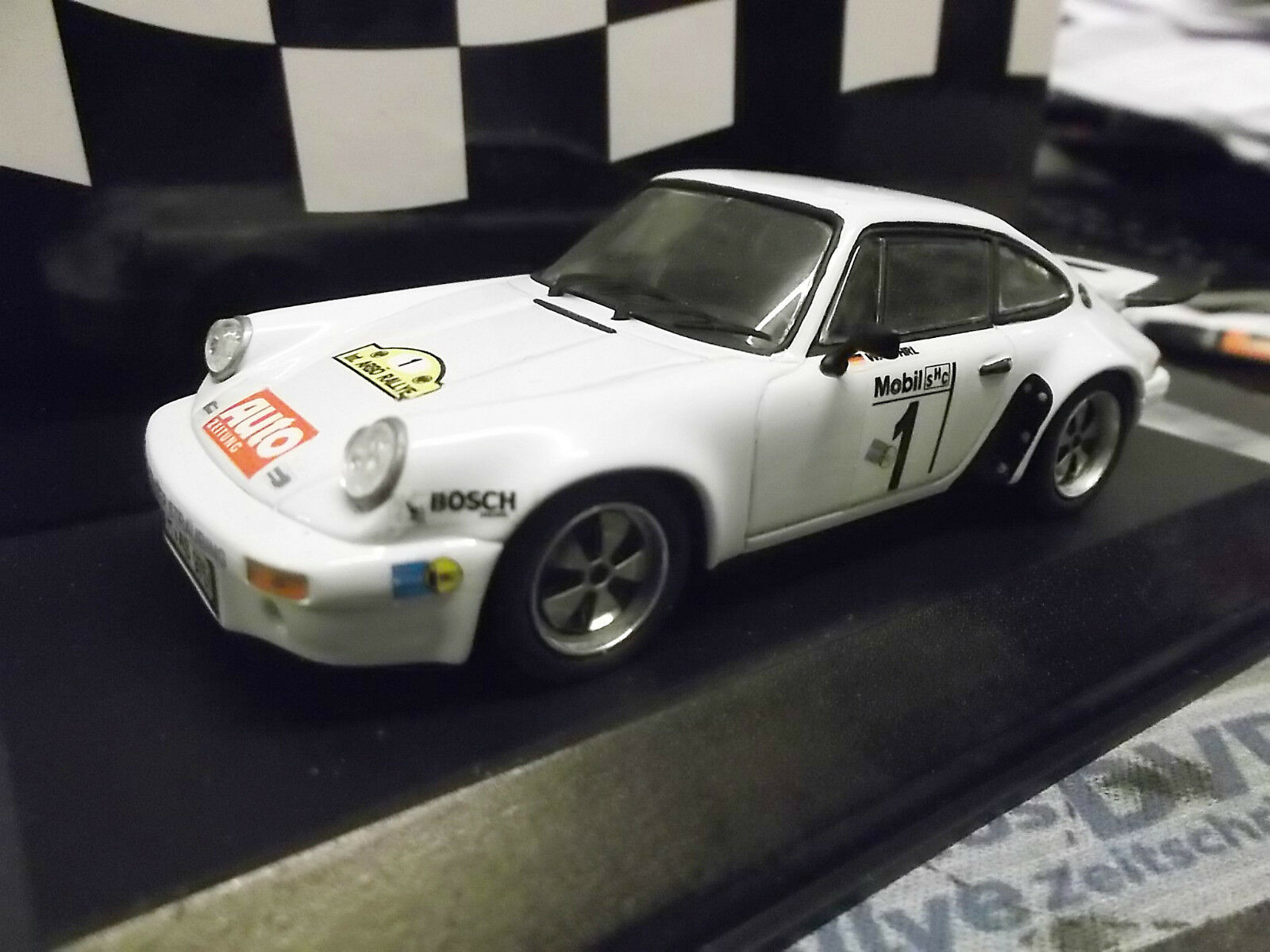Porsche 911 Carrera RS 3.0 Rallye Hunsrück 1977 Röhrl bils pma ba transformación 1 43