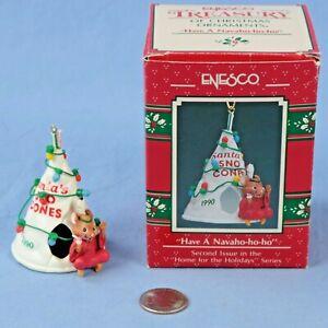 Enesco-Have-a-Navaho-ho-ho-Mouse-Sno-Cone-Ornament-Original-Box-NOS