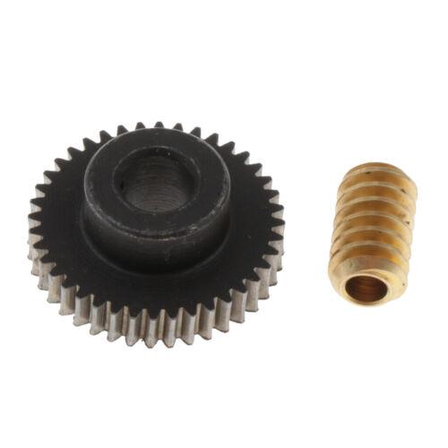 40 Schnecken 6x Messing Schneckenrad Getriebewelle 0,5 Modul Schneckenwellen