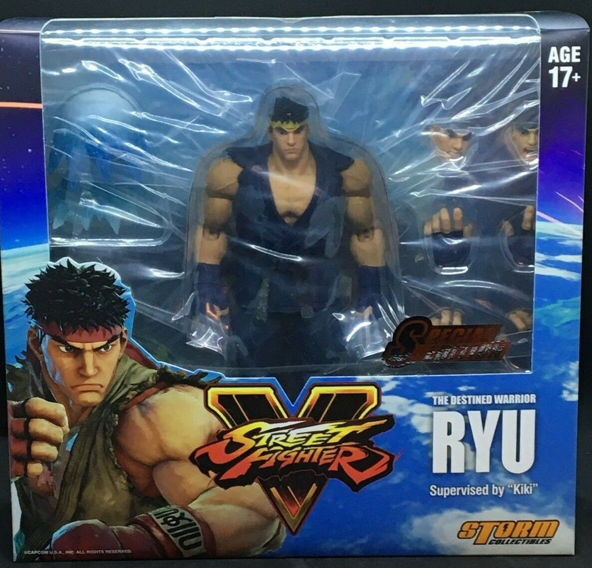 STORM COLLECTIBLES Street Fighter V - Player 2 (Blau) Ryu