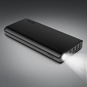 EasyAcc-20000mAh-Caricabatterie-Portatile-4-Port-Batteria-Esterna-Nero-e-Grigio