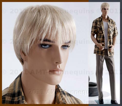 Male mannequin displays pants, military uniform suit, hand made man manikin-Zac