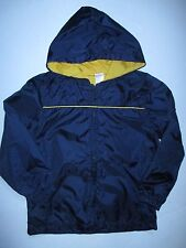 Gymboree Sunny Sports Navy Yellow Windbreaker Hooded Jacket Boys S 5-6 NEW NWT