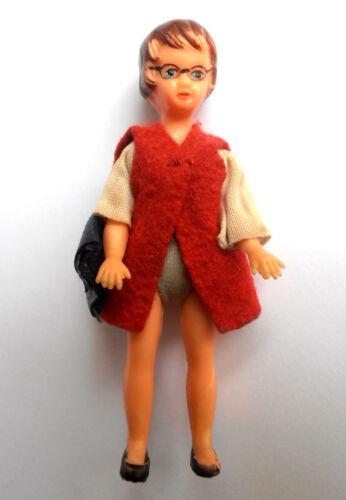 1960s Vintage German Small Plastic Doll cher