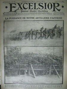 WW1-N-1602-ARTILLERIE-TRANCHeE-ALLEMANDE-PRISONNIER-TURC-JOURNAL-EXCELSIOR-1915
