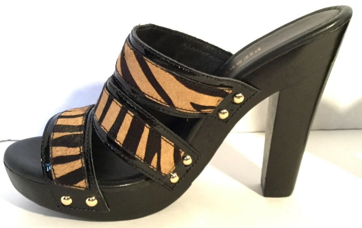 Pierre Balmain Animal Print Calf Hair Strappy Platform Sandal Dimensione Dimensione Dimensione 8 New In Box eb2e8d