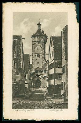 Ak Rothenburg Ob Der Tauber Alte Ansichtskarte Foto-ak Postcard Cx43 Einen Einzigartigen Nationalen Stil Haben Deutschland Bayern