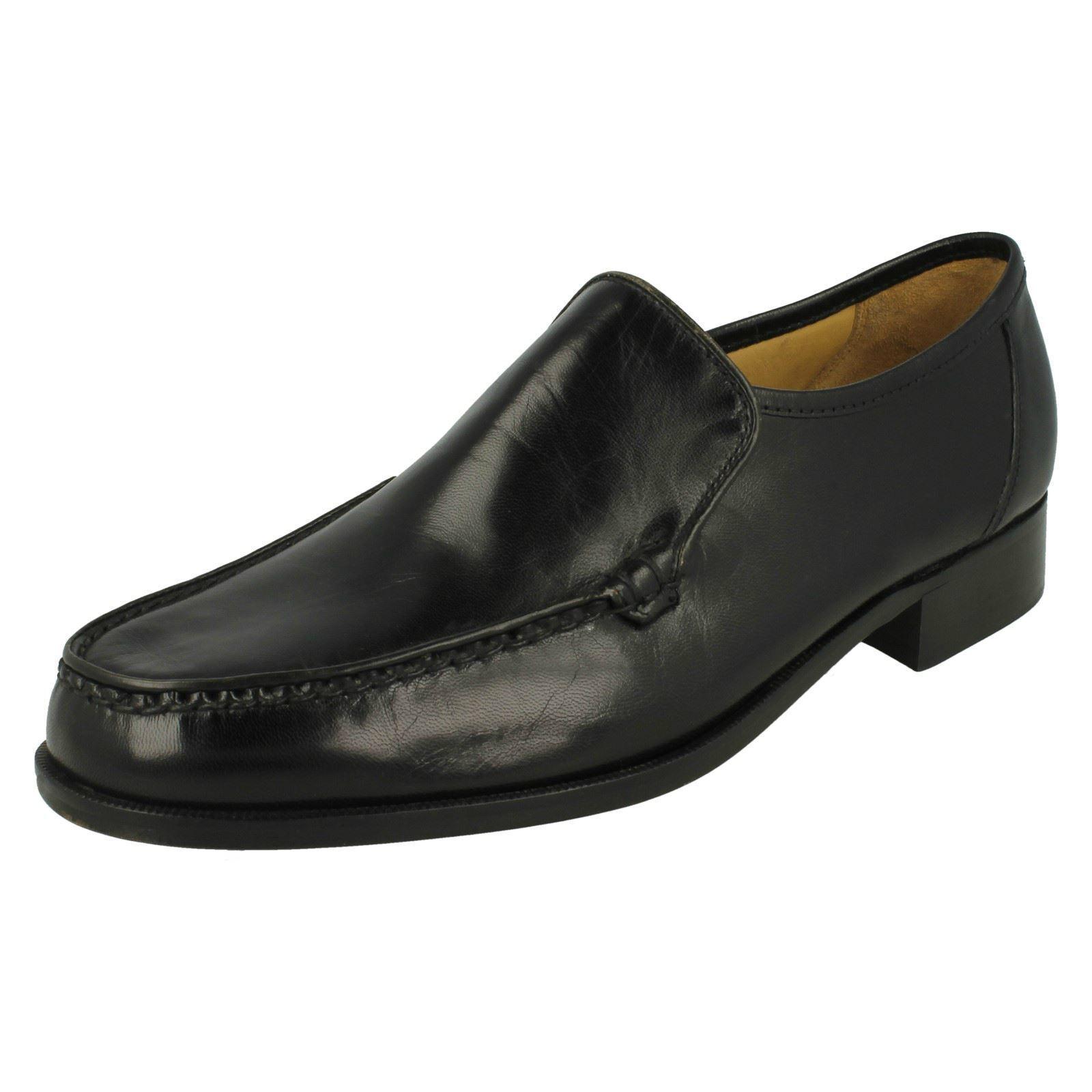 Herren Illinois schwarzes Leder Hineinschlüpfen Schuh von Thomas Blunt