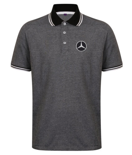 Mercedes Logo Embroidered Heavyweight Golfing Quality Polo Shirt.