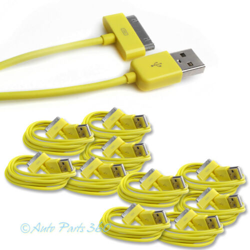 10X 6FT USB 30 PIN YELLOW CABLE DATA SYNC CHARGER SAMSUNG GALAXY TAB TABLET 10.1