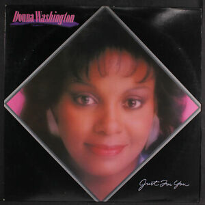 """DONNA WASHINGTON: just for you Capitol Records 12"""" LP 33 RPM"""