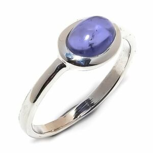 Tanzanite-Natural-Gemstone-Handmade-925-Sterling-Silver-Ring-Size-7-5-R-151