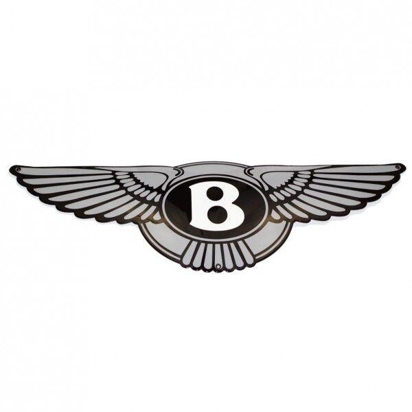 "Enamel plaque BENTLEY 25x80cm 10/""x32/"" WARRANTY-10 years emblem sign logo plate"