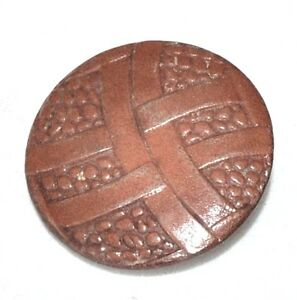 1-gros-bouton-vintage-034-Germany-034-en-cuir-marron-30mm-button