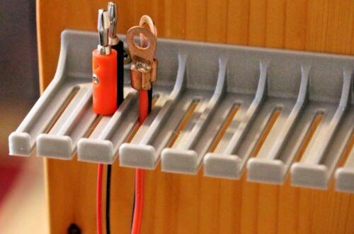 Banana Plug Test Cable Plug Alligator Clip Probe Test Lead Holder 13.5cm Silver