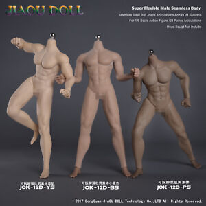 1//6 JIAOU DOLL JOK-12D-PS Black Skin Detachable Foot Strong Muscle Body Toys