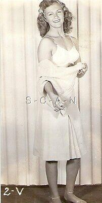 ORG VINTAGE 1940S-50S Sepia Nude RP- Skinny Brunette Takes