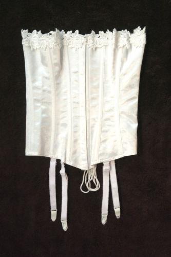 Crepe Suzette Foundations Victorian 4 Strap White Corset Plus Size 44