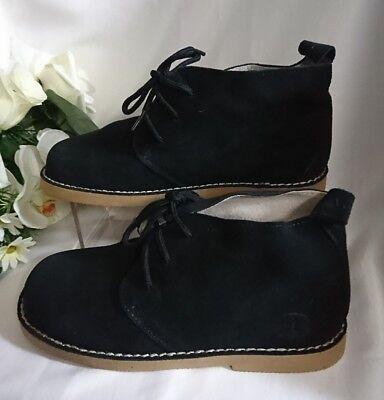 Jungen Kinder Schuhe Herbst MADE IN ITALY Gr. 28 Dunkel Blau WILDLEDER NEU