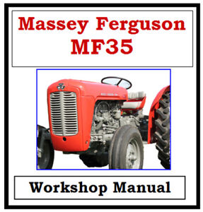Details about MASSEY FERGUSON MF35 FE35 WORKSHOP SERVICE REPAIR MANUAL  DIGITAL DOWNLOAD