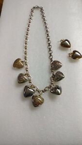 Vintage-Hearts-Necklace-amp-Matching-Earrings-v